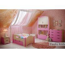 Модульная мебель Вырастайка: Кровать 2 + Стеллаж ВР-012 + Комод ВР-015 + Тумбочка ВР-014