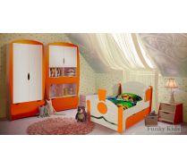 Комната Вырастайка - кровать Паровоз 4 + стеллаж ВР 012 + тумба ВР 014 + шкаф ВР 011