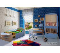 Модульная мебель Вырастайка - стеллаж ВР 012 + парта ВР 017 + кровать Корабль 5