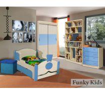 Детская комната Фанки Кидз и кровать Паровоз серии Вырастайка
