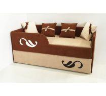 Мягкая двухъярусная кровать Латте арт. 30005 с бортиком-ограничителем