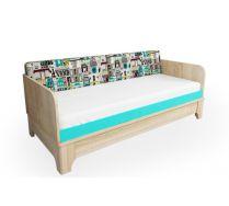 Кровать низкая для детей и подростков серия Индиго