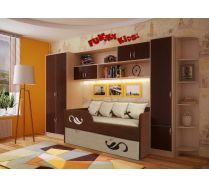 Детский диван Латте арт. 30005 и мебель Фанки Кидз серия СВ