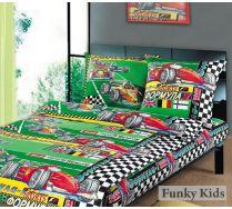 Постельное белья для мальчиков - Формула 1, бязь, 1.5 спальный комплект