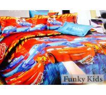 Гоночное постельное белье для мальчиков - Тачки Молния, арт. 102