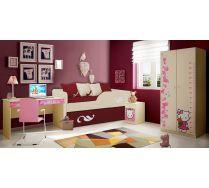 Детскиq двухъярусный диван Латте арт. 30005 + мебель Фанки Беби Китти