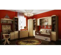 Детскйи двухъярусный диван Латте арт. 30005 + мебель серии Фанки Крем