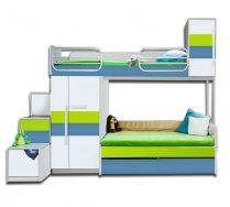Детская двухъярусная кровать - серия Твист Олли