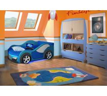 Диван в виде машины Велюр + мебель Вырастайка: комод ВР-015 и стеллаж ВР-012