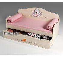 Кровать с выкатным ящиком Зайка, артикул 40004