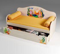 Детская кровать Русалочка с ящиком, артикул 40013