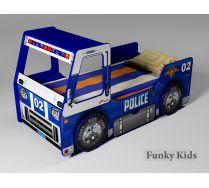 Детская кровать-машина Полиция со спальным место 170х80 см