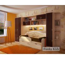 Детская кровать Париж, арт. 40010 + мебель Фанки Кидз + текстиль