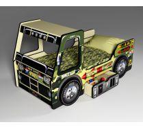 Милитари - детская кровать машина (спальное место 170*80 см)