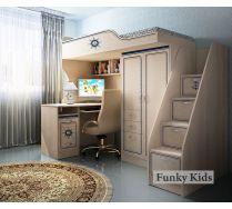 Кровать-чердак КП-4/1 + лестница КП-13/8 + стол КП-13/1 Капитан