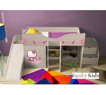 Детская мебель Китик: кровать-чердак, арт. 40020 + лестница-комод 13/19 + горка 13/18