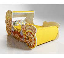Кровать карета мини, арт. 20014 + купол + мягкие накладки