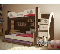 Кровать Пираты для троих детей ПР-21