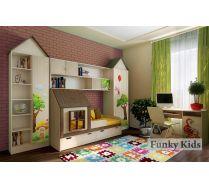 Кровать Домик, арт 13.7/2 + мебель для детей Винни Пух