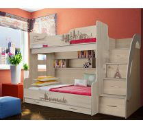 Кровать для троих детей Фанки Тревел ФТР - 21
