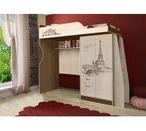 Детская кровать-чердак Фанки Тревел ФТР-4/1 со сп. местом 190х80 см