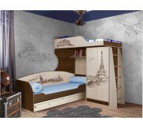 Кровать для 2-х детей Фанки Тревл арт.ФТР 4/1+ФТР 01