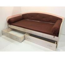 Кровать в виде дивана Фанки Кидз 13/7 МС с мягкой спинкой