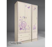 Мебель Фанки Лилак: шкаф 13/2 + пенал 13/10 для хранения