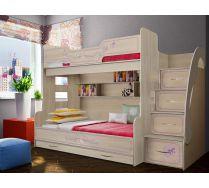 Кровать для троих детей арт. 21 серия Фанки Кидз Лилак