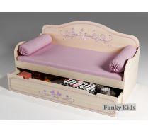 Низкая кровать со спинкой Фанки Кидз Лилак, арт. 40021