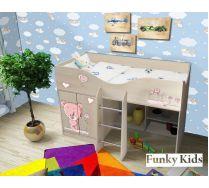Кровать чердак для детей Мишка, арт. 40019