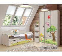 Мебель Винни Пух и одноярусная кровать Самолет, арт. 40008