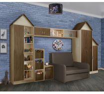 Кресло-кровать Бланес-3 и мебель Фанки Кидз Домик