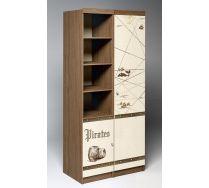 Шкаф для хранения вещей Пираты: пенал ПР-03 + стеллаж ПР-02
