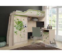Кровать-чердак ФУТ-4/1 и письменный стол ФУТ-13/1 мебель Футбол для мальчиков