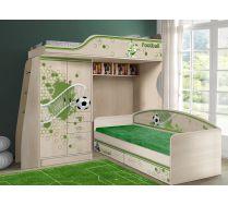 Кровать-чердак ФУТ-4/1 и низкая кровать ФУТ-13/7 мебель Футбол