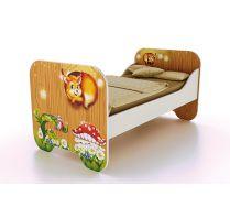 Одноярусная низкая кровать КР-6 серия Лесная Сказка