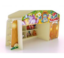 Кровать-чердак КЧ-8 со сп. местом 170х80 см серии Лесная Сказка
