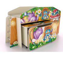 Кровать-чердак КЧ-8 + стол СТ-5 + комод К-2 серия Лесная Сказка
