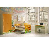 Кровать КР-6+стол СТ-4+шкаф Ш-3+тумба Т-5+комод К-1 Лесная Сказка