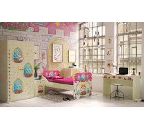 Детская мебель Замок Принцессы - готовая комната № 1 для девочек