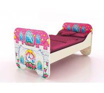 Низкая кровать КР-6 со сп. местом 160х80 см серии Замок Принцесса