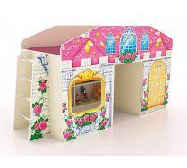 Детская кровать-чердак с окошком КЧ-8 серии Замок Принцессы