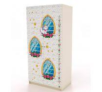 Двухдверный шкаф Ш-3 серия Замок Принцессы
