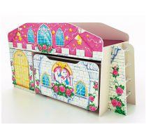 Кровать-чердак + выкатной ящик ЯЩ-8 серии Замок Принцессы