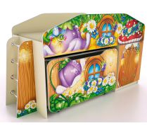 Детская одноярусная кровать КЧ-8 + ящик ЯЩ-8 серии Лесная Сказка