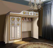 Кровать-чердак Жасмин Ж 4/1-2У с лестницей и шкафом