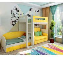 Кровать-чердак 24 + диван Бланес 2 + кровать 13/52 Фанки Кидз