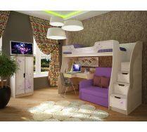 Детская мебель Фанки Кидз Лилак. Готовая комната для девочек.