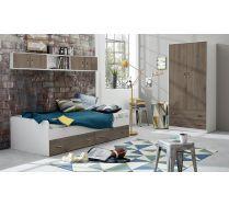 Детская мебель Фанки Кидз: кровать, навесной мост, двухдверный шкаф
